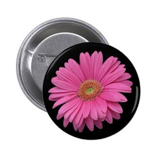 Pink Gerbera Daisy 2 Inch Round Button