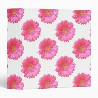 Pink gerbera daisy 3 ring binder