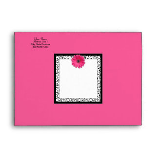 Pink Gerbera Daisy A-7 Envelope