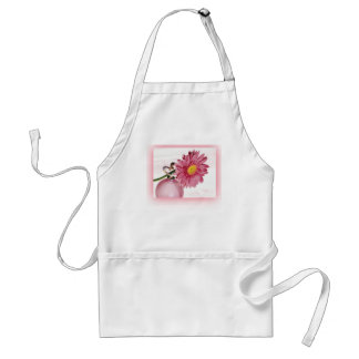 Pink Gerbera Daisy Adult Apron