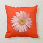 Pink Gerbera Daisy American MoJo Pillow