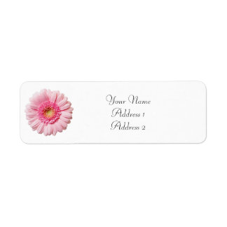 Pink Gerbera Daisy Avery Address Labels