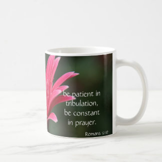 Pink Gerbera Daisy Bible Verse about hope & prayer Coffee Mug