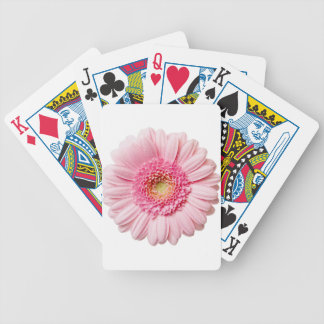 Pink Gerbera Daisy Bicycle Playing Cards