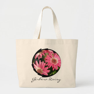 Pink Gerbera Daisy Canvas Bags