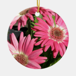 Pink Gerbera Daisy Ceramic Ornament