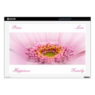 """Pink Gerbera  daisy closeup Skin For 17"""" Laptop"""