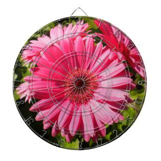 Pink Gerbera Daisy Dartboard