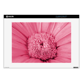 "Pink Gerbera Daisy Decal For 15"" Laptop"