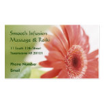 Pink Gerbera Daisy Double-Sided Standard Business Cards (Pack Of 100)