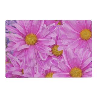 Pink Gerbera Daisy Flower Customizable Placemat