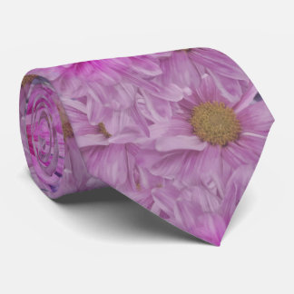 Pink Gerbera Daisy Flower Customizable Tie