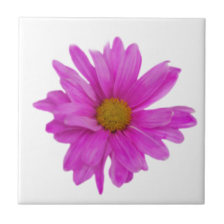 Pink Gerbera Daisy Flower Customizable Small Square Tile