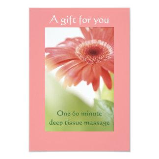 Pink Gerbera Daisy Gift Certificate Card