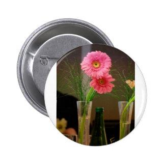 Pink Gerbera Daisy Gifts Pinback Button