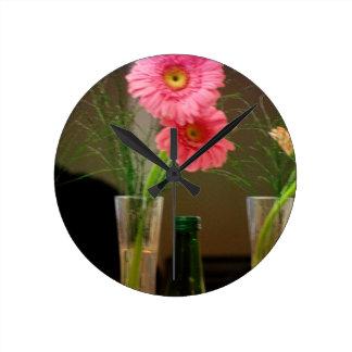 Pink Gerbera Daisy Gifts Clocks