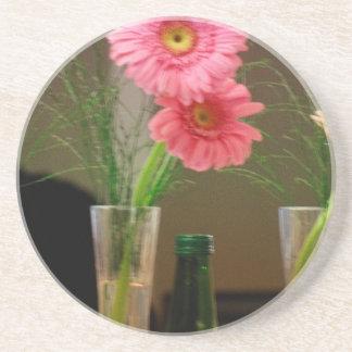 Pink Gerbera Daisy Gifts Coasters