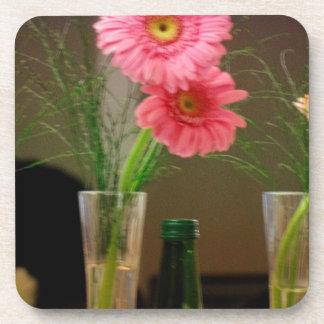 Pink Gerbera Daisy Gifts Drink Coaster