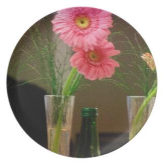 Pink Gerbera Daisy Gifts Plate