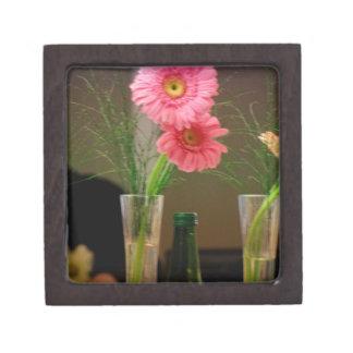Pink Gerbera Daisy Gifts Premium Trinket Box