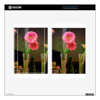 Pink Gerbera Daisy Gifts Kindle Fire Skins