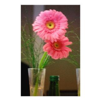 Pink Gerbera Daisy Gifts Customized Stationery
