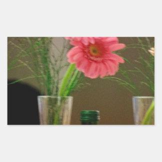 Pink Gerbera Daisy Gifts Rectangle Sticker