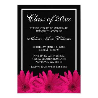 Pink Gerbera Daisy Graduation Announcement