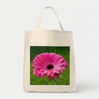 Pink Gerbera Daisy Grocery Tote Bag