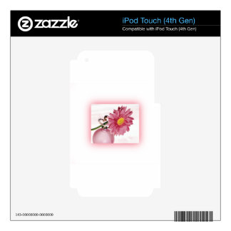 Pink Gerbera Daisy iPod Touch 4G Decal