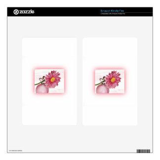 Pink Gerbera Daisy Kindle Fire Skin