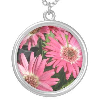 Pink Gerbera Daisy Necklaces
