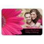 Pink Gerbera Daisy Photo Wedding Magnet Rectangular Magnet