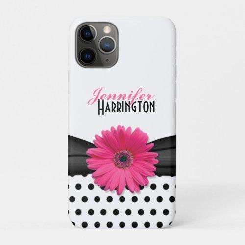 Pink Gerbera Daisy Polka Dot Phone Case