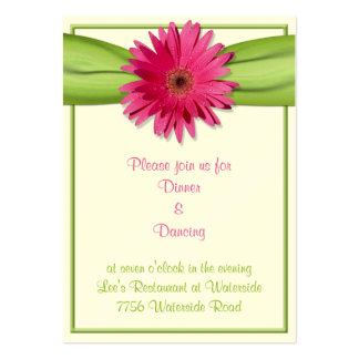 Pink Gerbera Daisy Reception Card