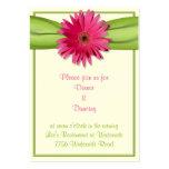 Pink Gerbera Daisy Reception Card Business Card Templates