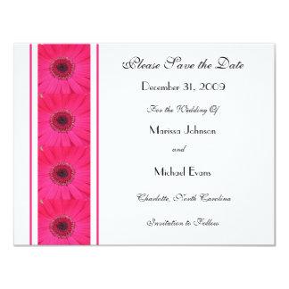 Pink Gerbera Daisy Save the Date Invitation