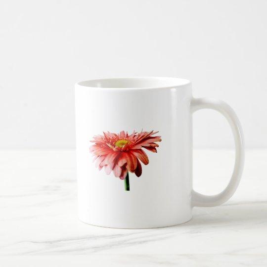 Pink Gerbera Daisy Side View Coffee Mug