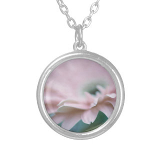 Pink Gerbera Daisy Silver Plated Necklace