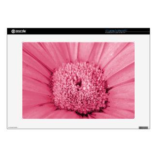 """Pink Gerbera Daisy 15"""" Laptop Decal"""