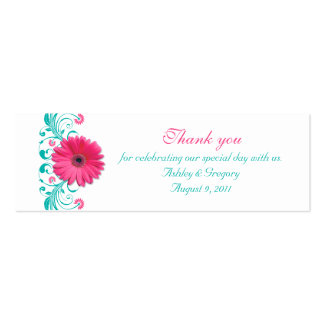 Pink Gerbera Daisy Special Occasion Favor Tags Business Cards