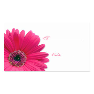Pink Gerbera Daisy Special Occasion Place Card Double-Sided Standard Business Cards (Pack Of 100)