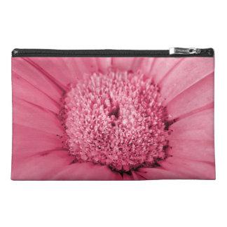 Pink Gerbera Daisy Travel Accessory Bag