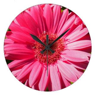 Pink Gerbera Daisy Wall Clock