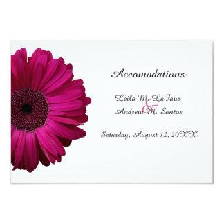 Pink Gerbera Daisy Wedding Accomodations Card