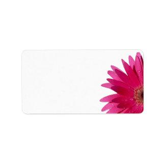 Pink Gerbera Daisy Wedding Blank Address Label