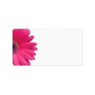 Pink Gerbera Daisy Wedding Blank Address Labels label