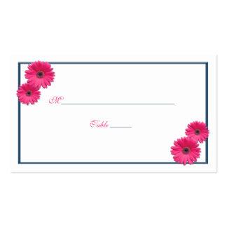 Pink Gerbera Daisy Wedding Place Cards