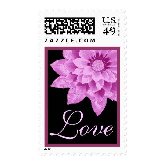 Pink Gerbera Daisy Wedding Stamp