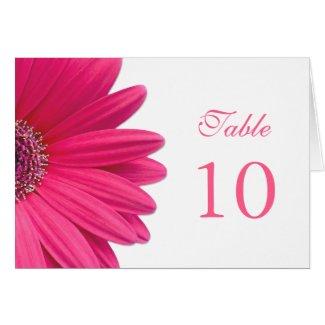 Pink Gerbera Daisy Wedding Table Card card